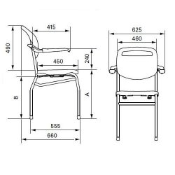 Linido Trento Shower/Toilet Chair :: Sports Supports